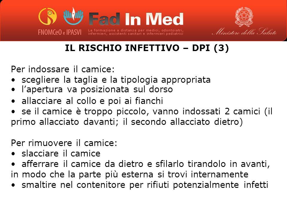 IL RISCHIO INFETTIVO – DPI (3)