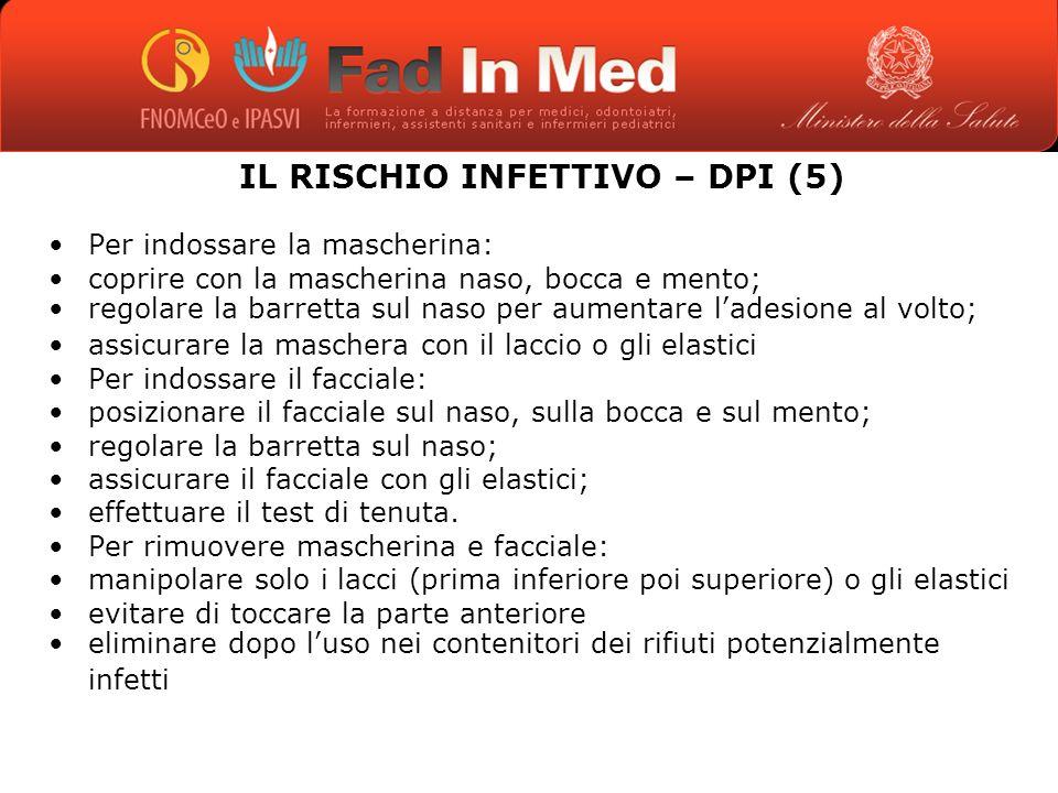 IL RISCHIO INFETTIVO – DPI (5)
