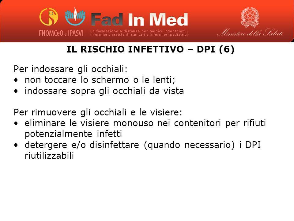 IL RISCHIO INFETTIVO – DPI (6)