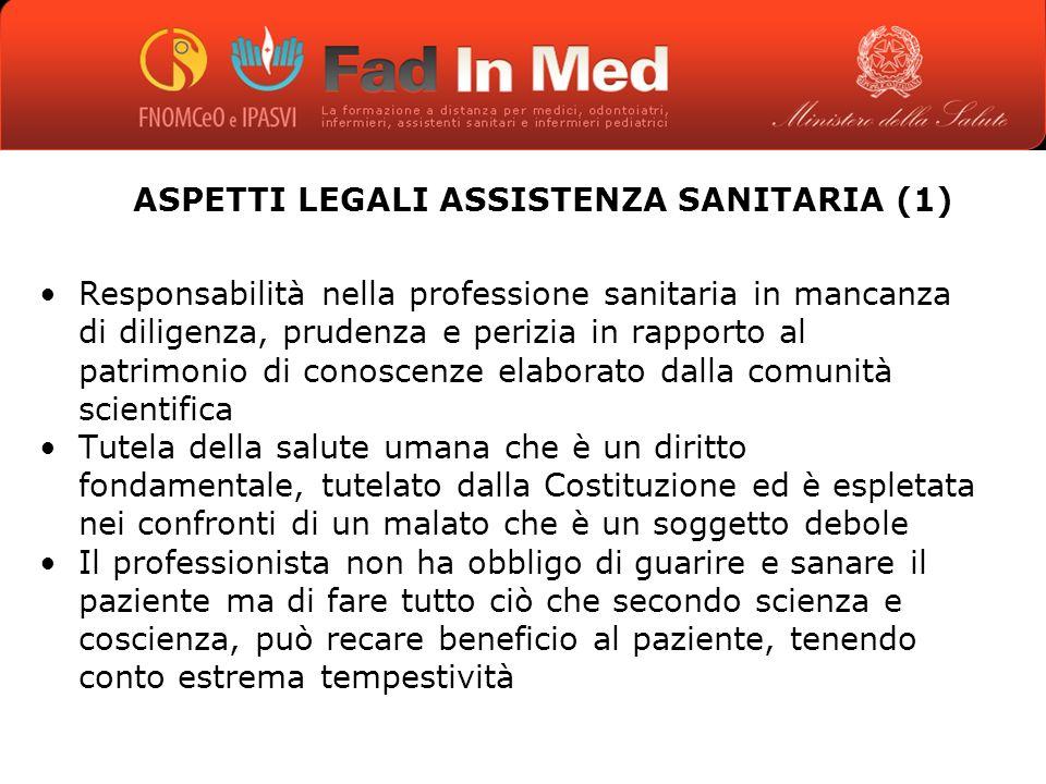 ASPETTI LEGALI ASSISTENZA SANITARIA (1)