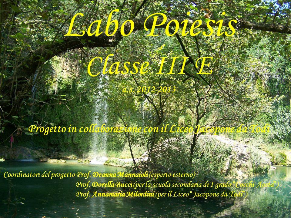 Labo Poiesis Classe III E a. s