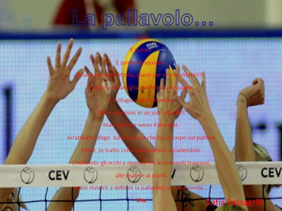 La pallavolo… Sofia Passagrilli È gioia È sudore È spirito di squadra.