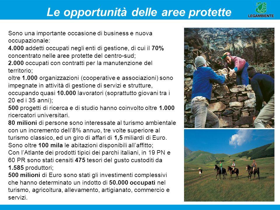 Le opportunità delle aree protette