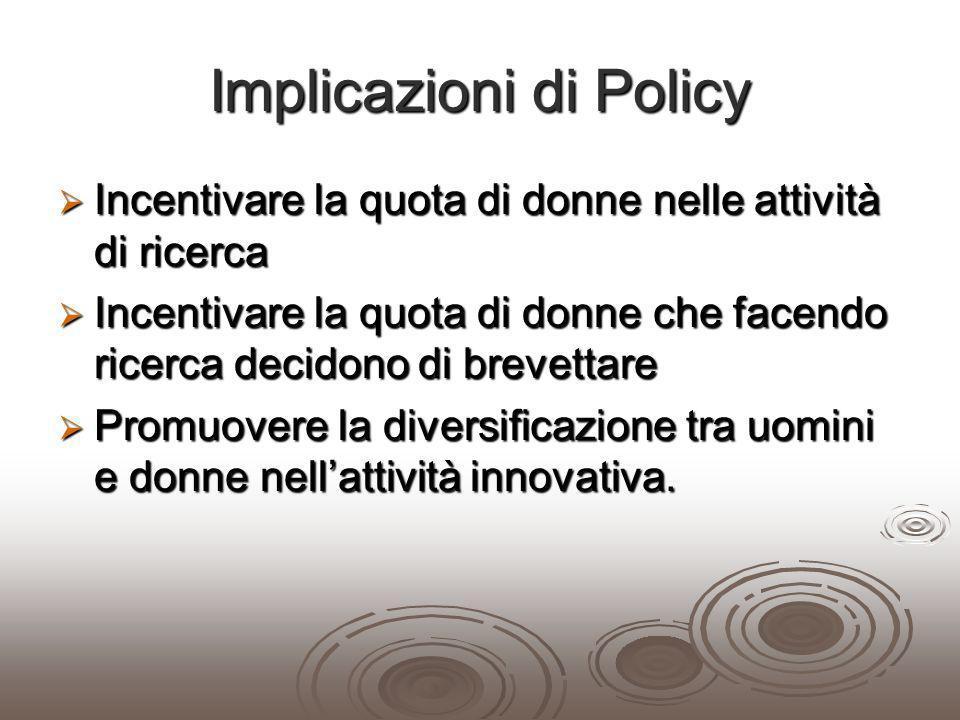 Implicazioni di Policy