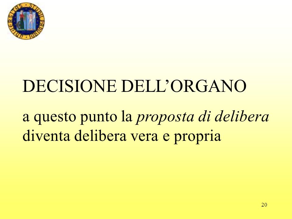 DECISIONE DELL'ORGANO