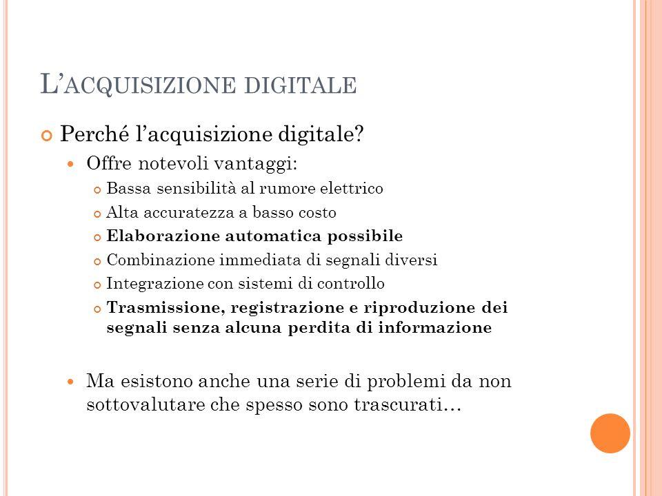 L'acquisizione digitale