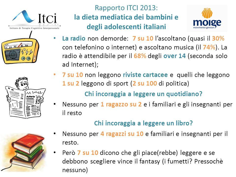 Rapporto ITCI 2013: la dieta mediatica dei bambini e degli adolescenti italiani