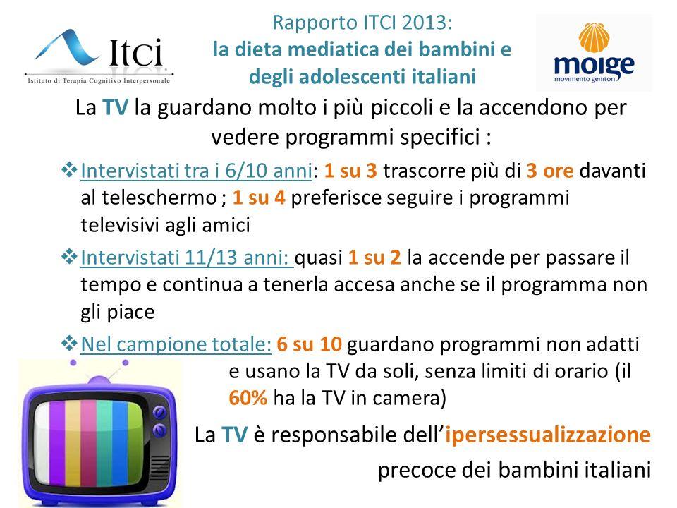 La TV è responsabile dell'ipersessualizzazione