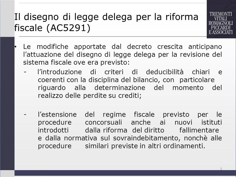 Il disegno di legge delega per la riforma fiscale (AC5291)