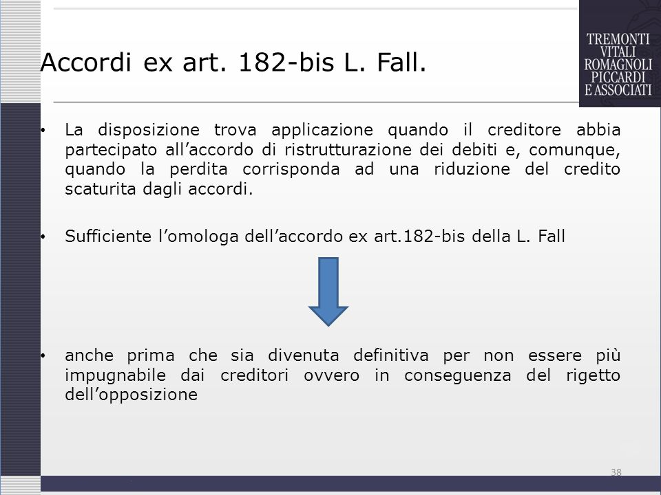 Accordi ex art. 182-bis L. Fall.