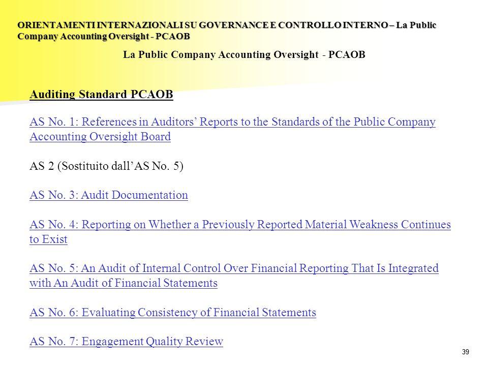 La Public Company Accounting Oversight - PCAOB