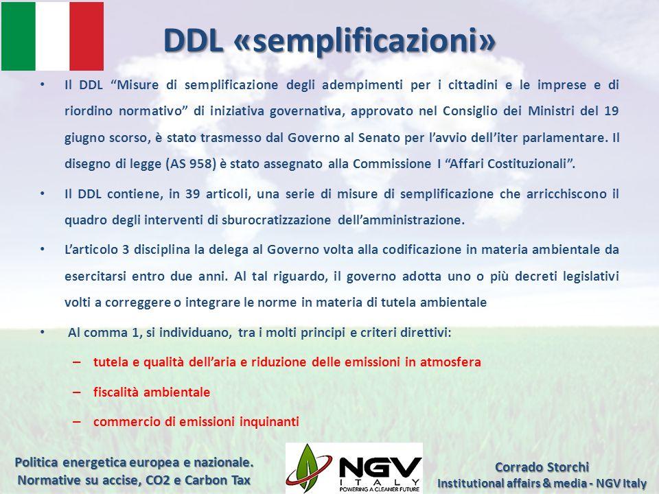 DDL «semplificazioni»