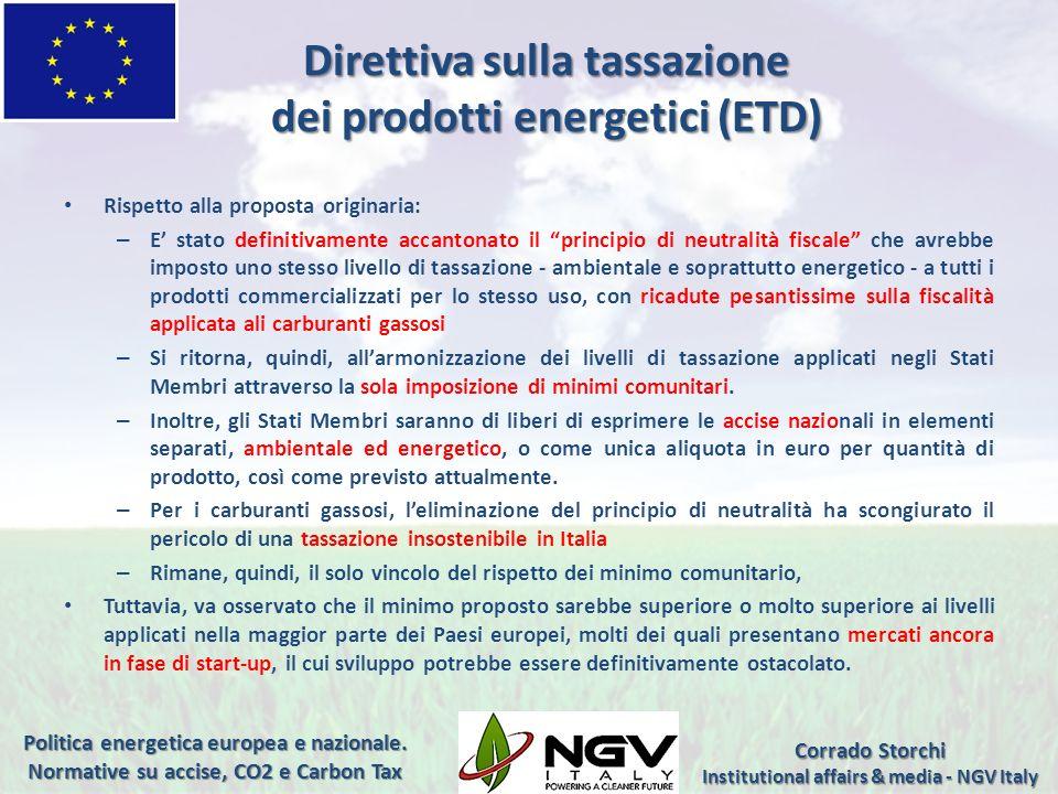 Direttiva sulla tassazione dei prodotti energetici (ETD)
