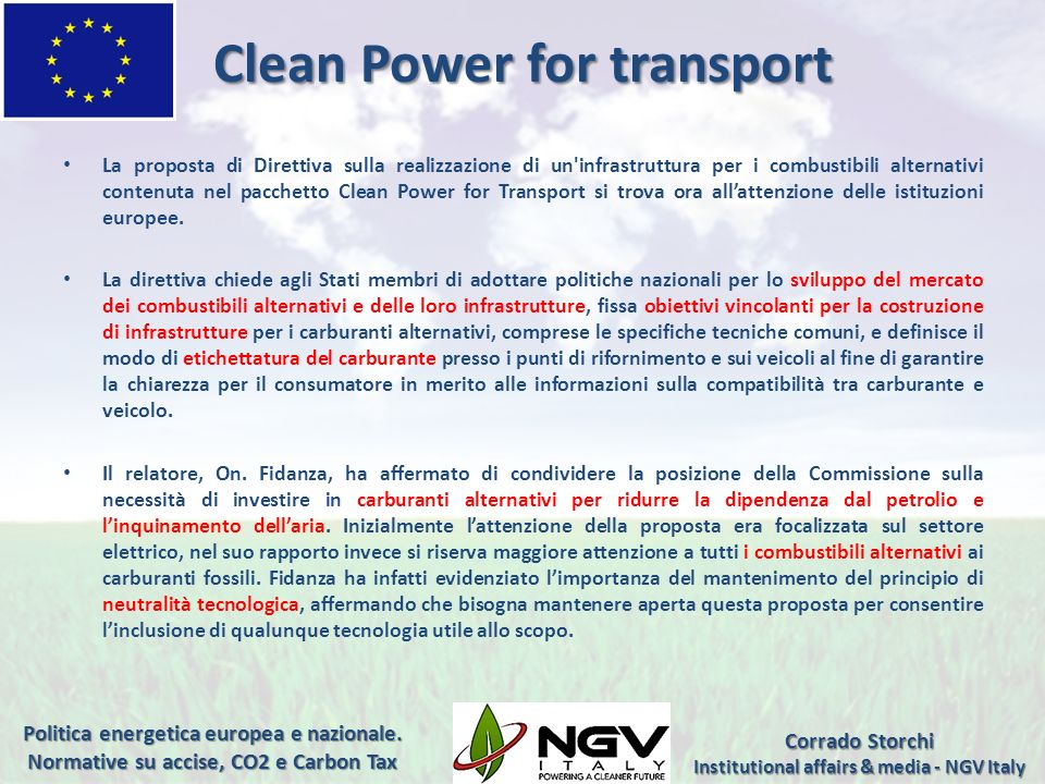 Clean Power for transport