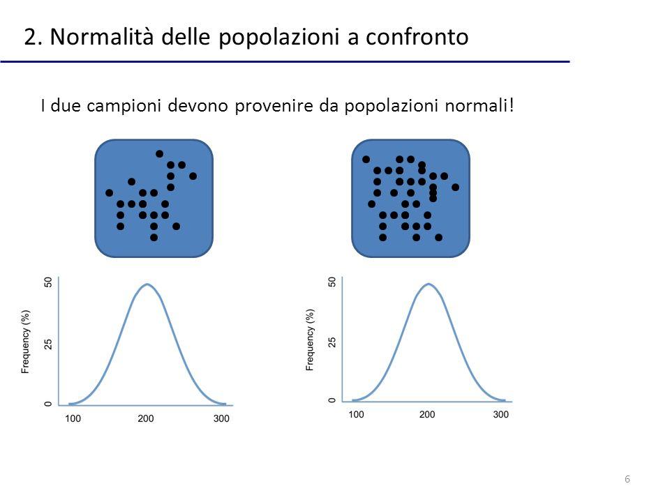2. Normalità delle popolazioni a confronto