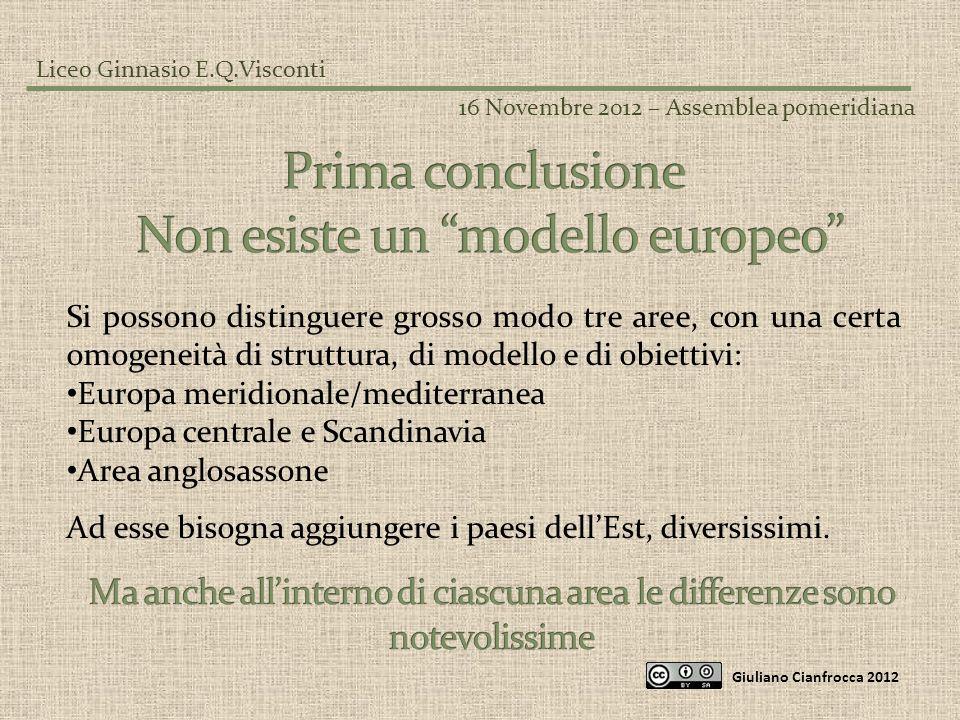Non esiste un modello europeo