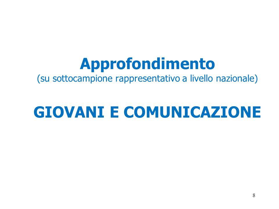 GIOVANI E COMUNICAZIONE