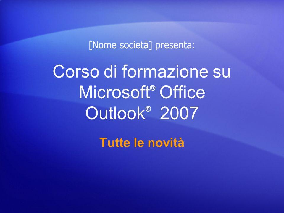 Corso di formazione su Microsoft® Office Outlook® 2007