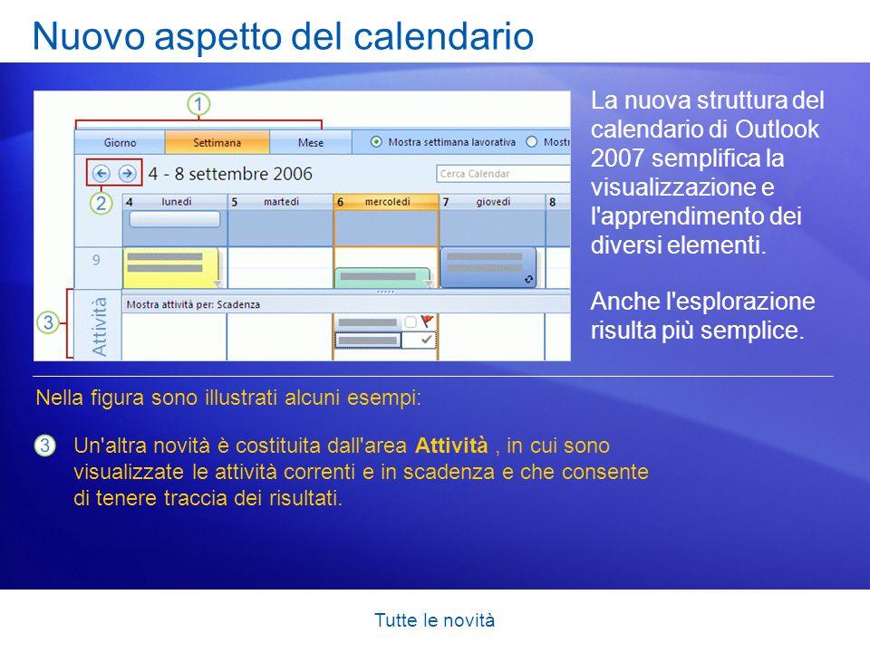 Nuovo aspetto del calendario