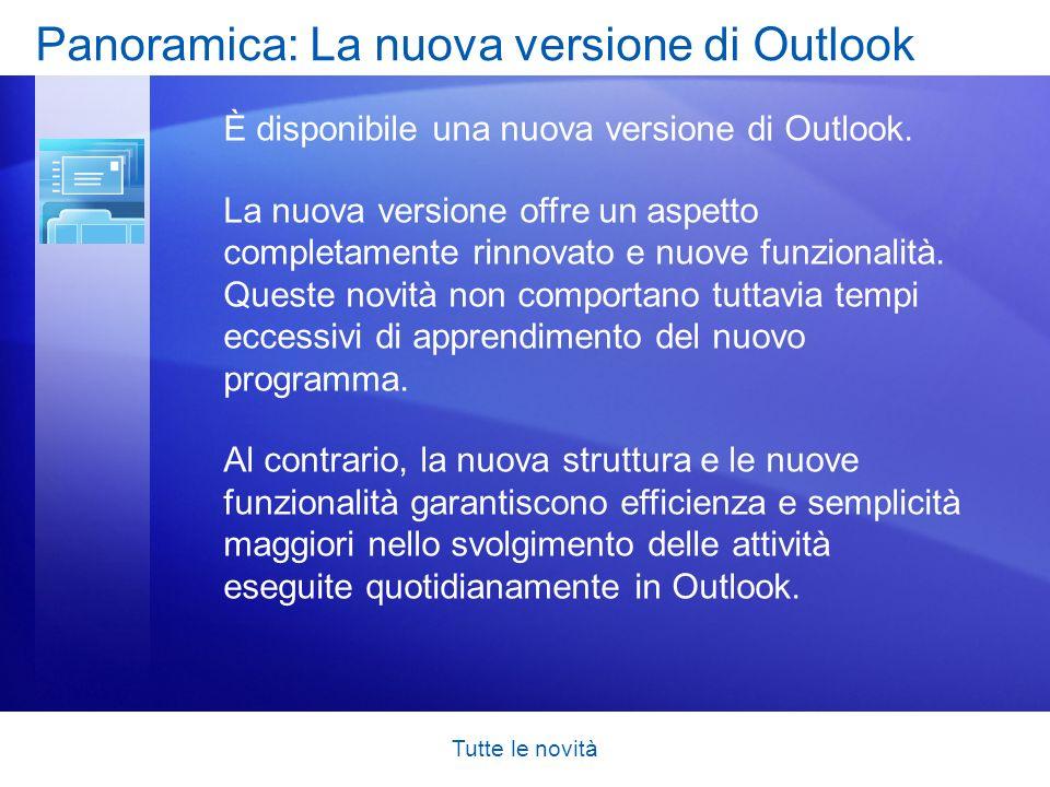 Panoramica: La nuova versione di Outlook
