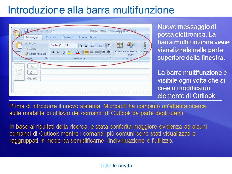 Introduzione alla barra multifunzione
