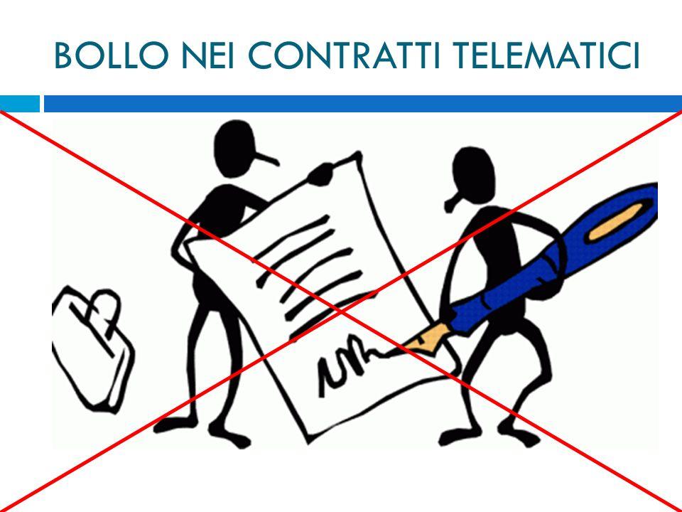 BOLLO NEI CONTRATTI TELEMATICI