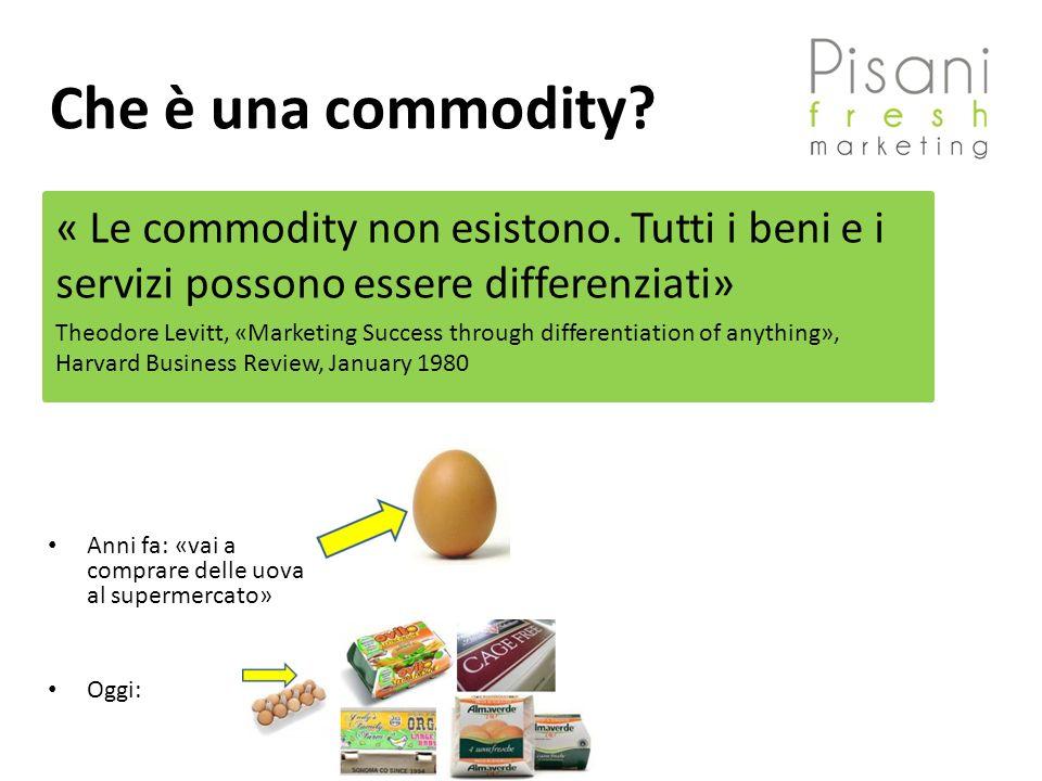 Che è una commodity « Le commodity non esistono. Tutti i beni e i servizi possono essere differenziati»