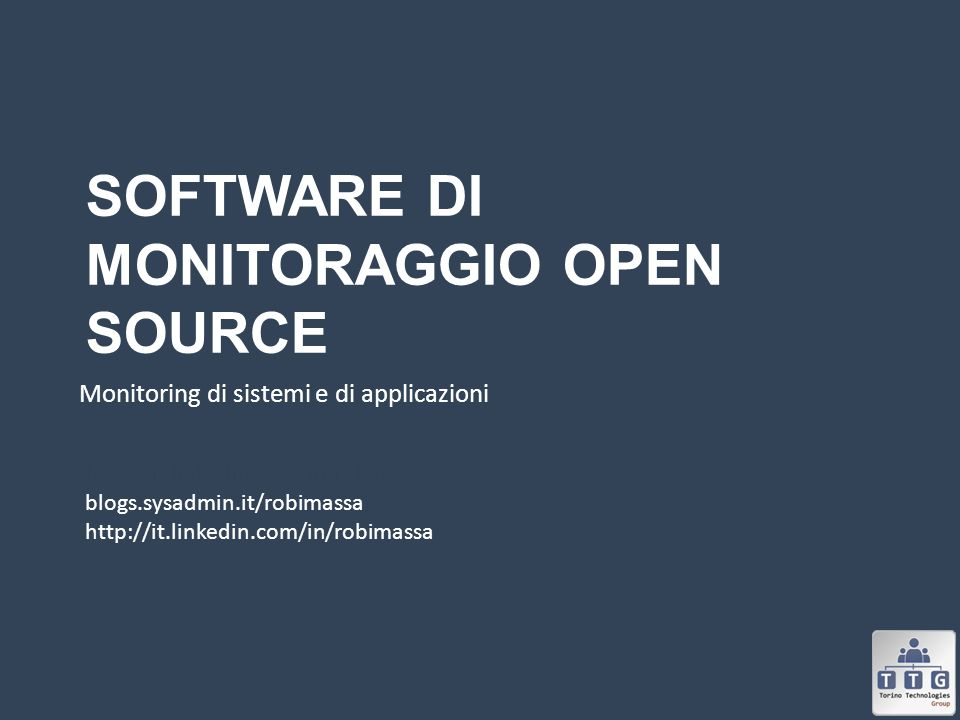 Software di monitoraggio Open Source