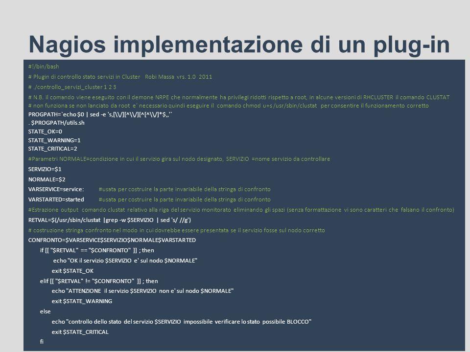 Nagios implementazione di un plug-in
