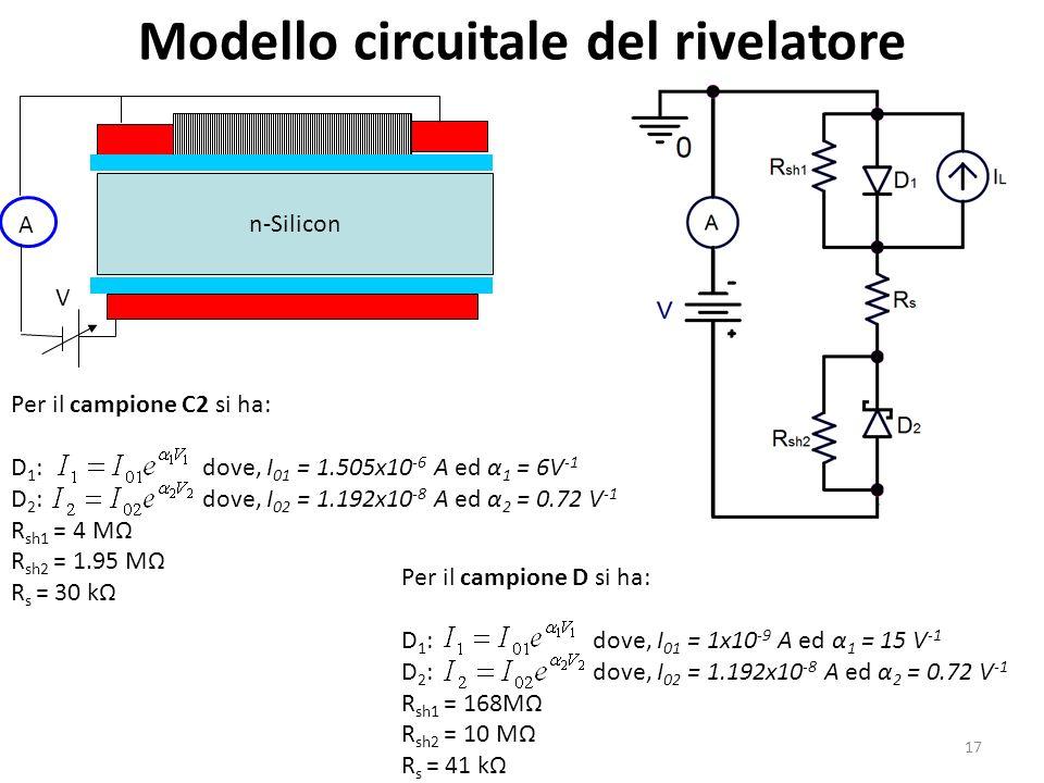 Modello circuitale del rivelatore