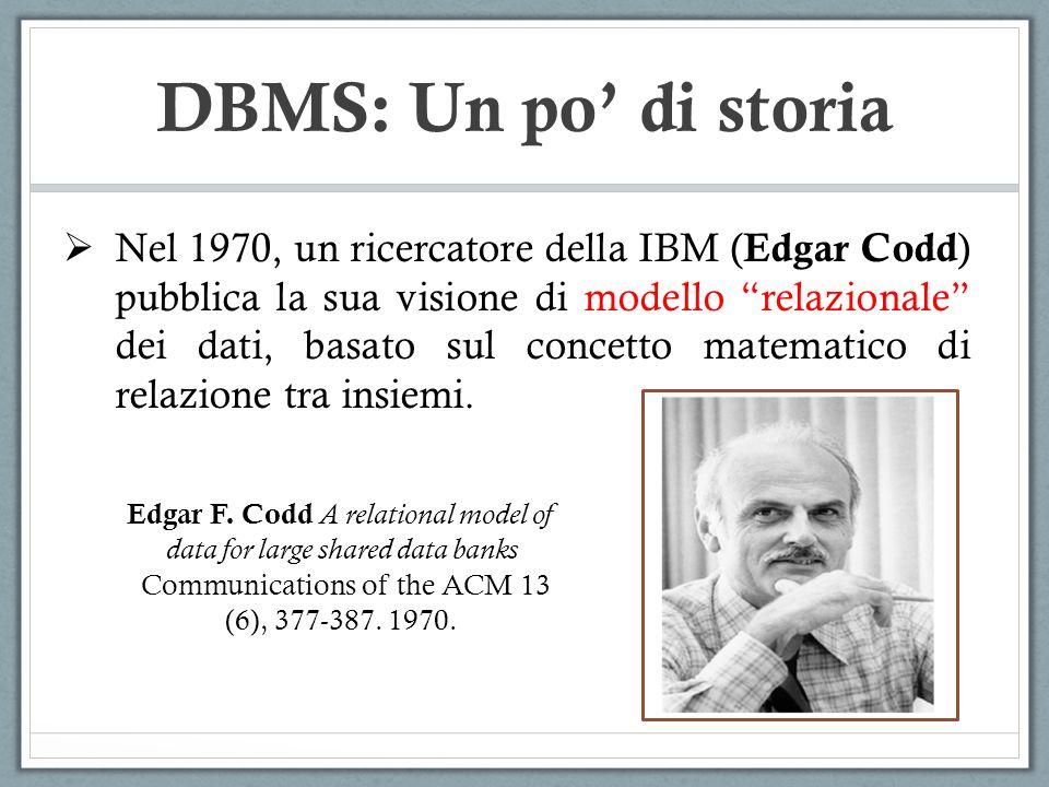 DBMS: Un po' di storia