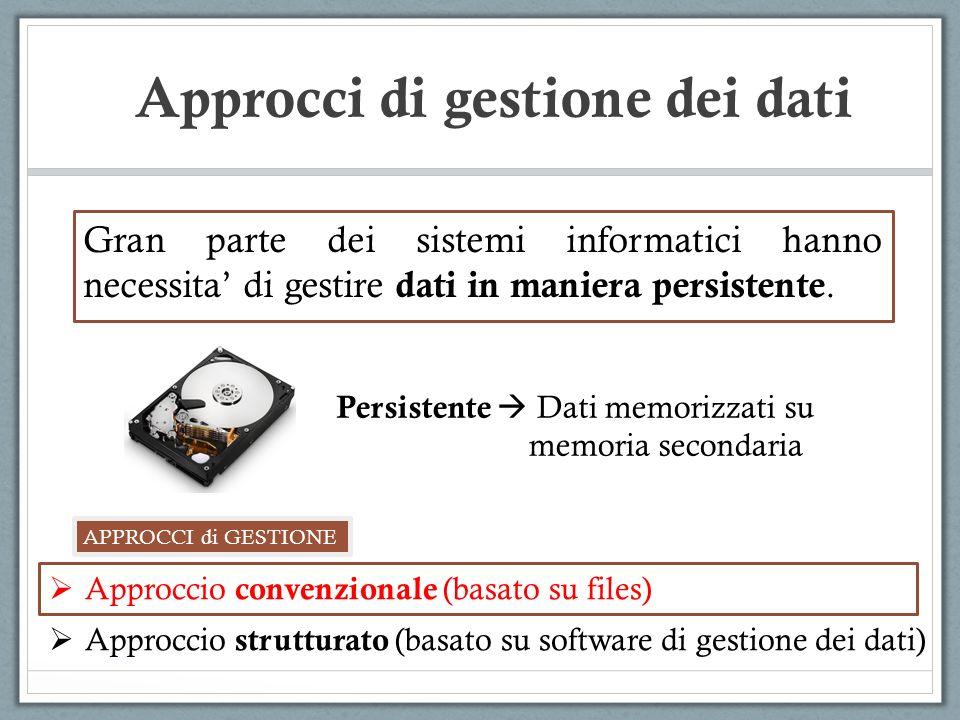 Approcci di gestione dei dati