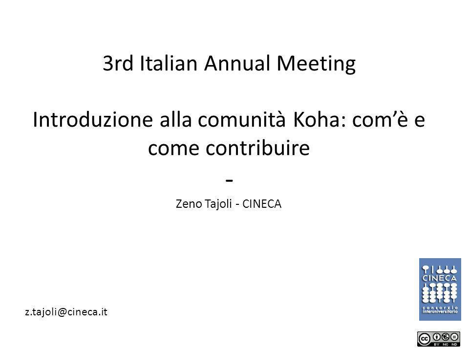 Zeno Tajoli - CINECA z.tajoli@cineca.it 1