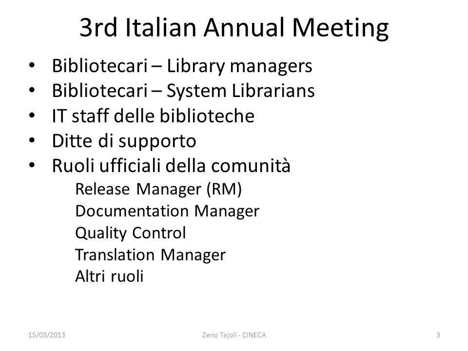 3rd Italian Annual Meeting