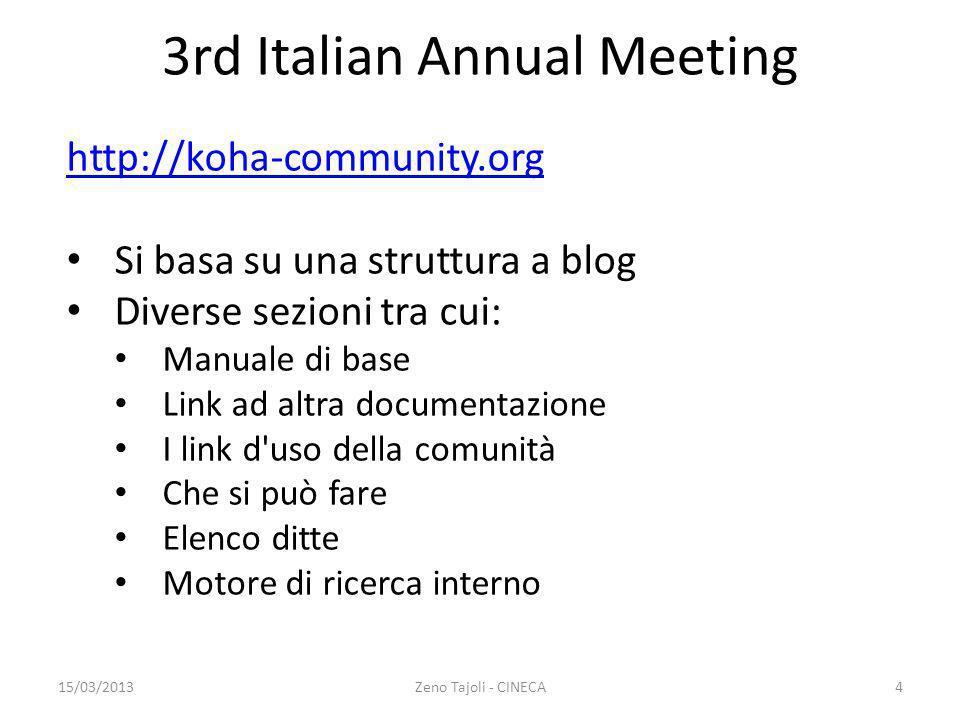 3rd Italian Annual Meeting