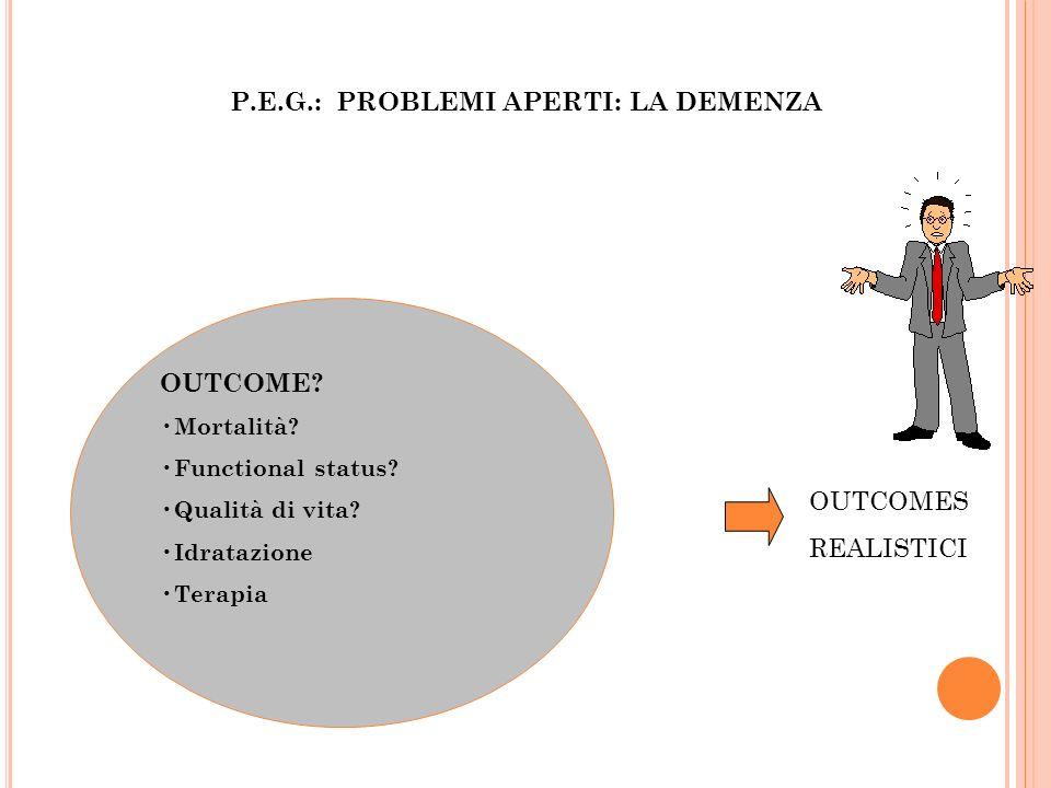 P.E.G.: PROBLEMI APERTI: LA DEMENZA