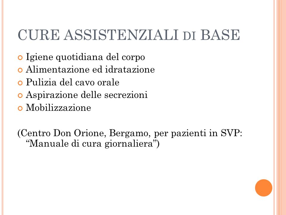 CURE ASSISTENZIALI di BASE