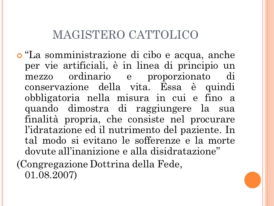 MAGISTERO CATTOLICO