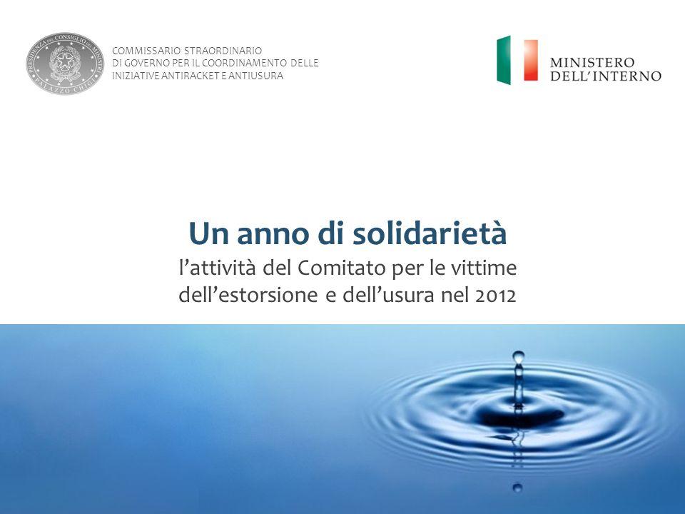 Un anno di solidarietà l'attività del Comitato per le vittime