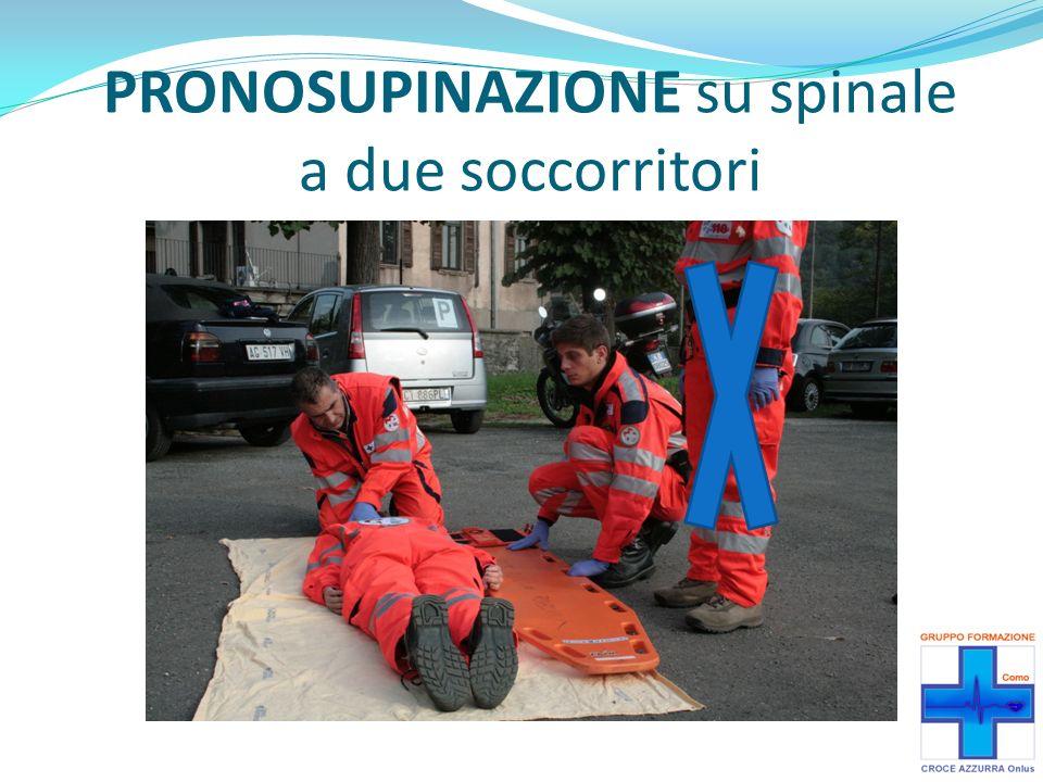 PRONOSUPINAZIONE su spinale a due soccorritori