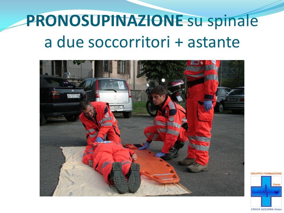 PRONOSUPINAZIONE su spinale a due soccorritori + astante