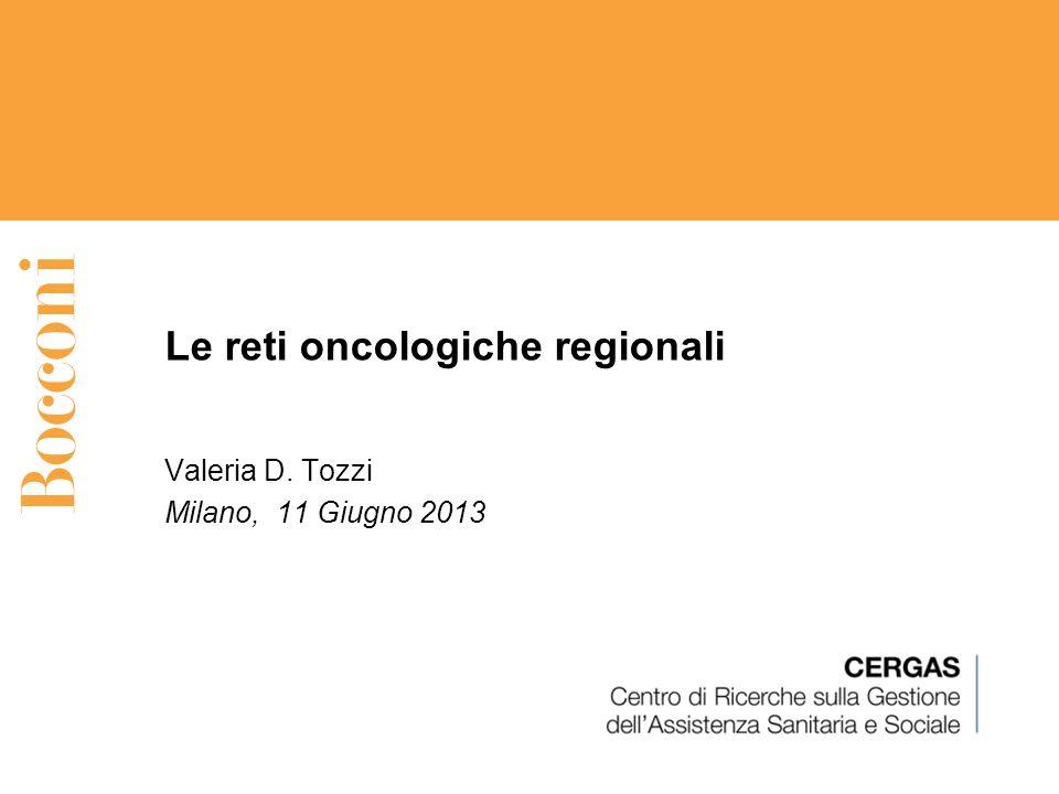 Le reti oncologiche regionali
