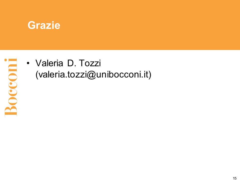 Grazie Valeria D. Tozzi (valeria.tozzi@unibocconi.it)