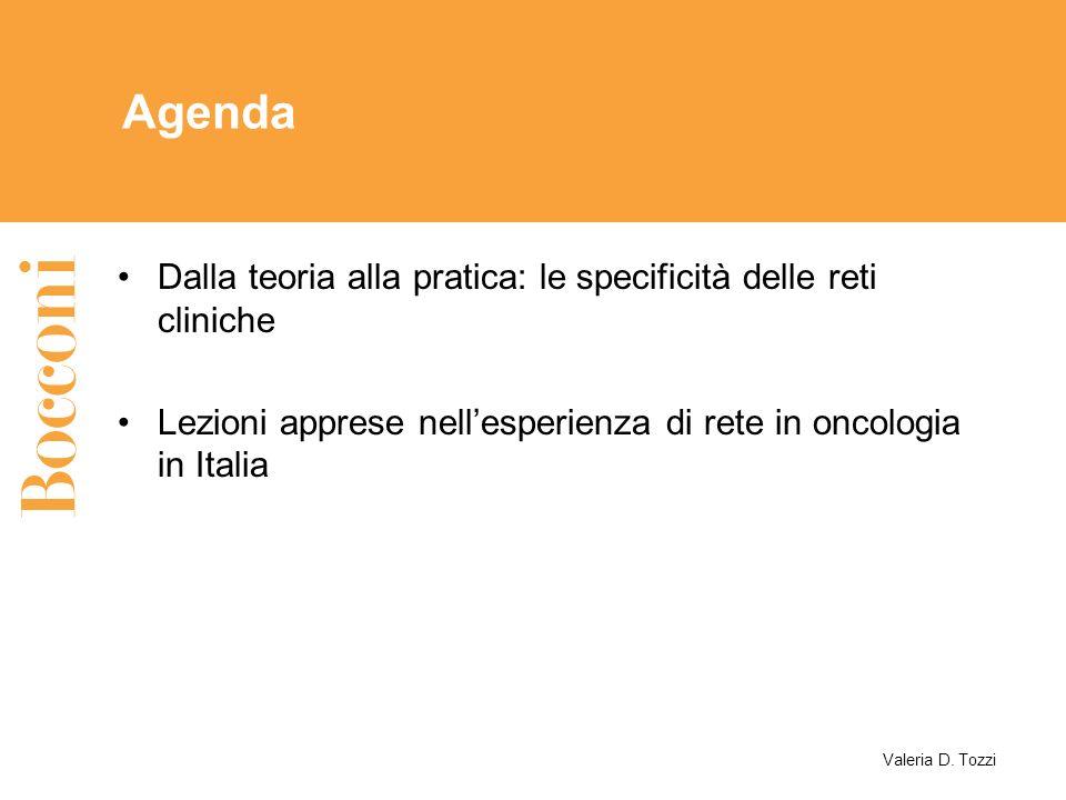 Agenda Dalla teoria alla pratica: le specificità delle reti cliniche