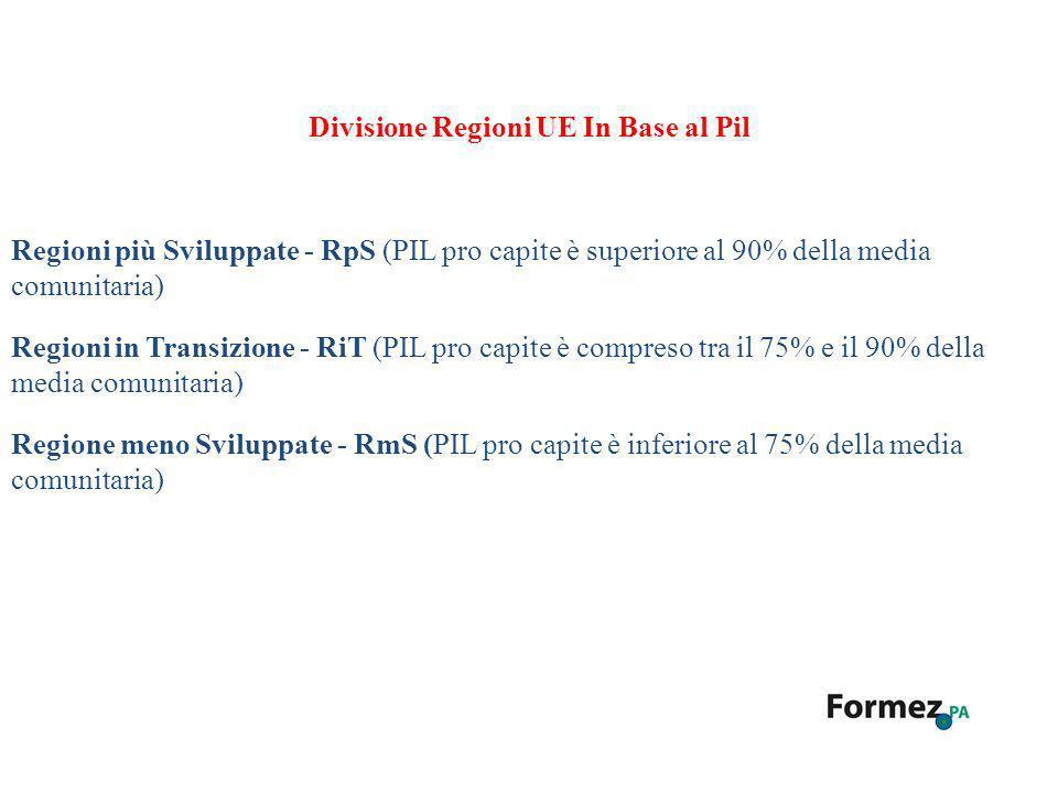 Divisione Regioni UE In Base al Pil