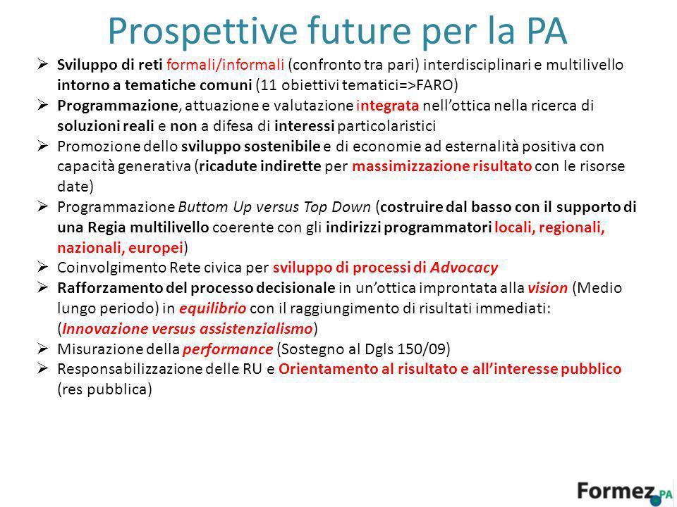 Prospettive future per la PA
