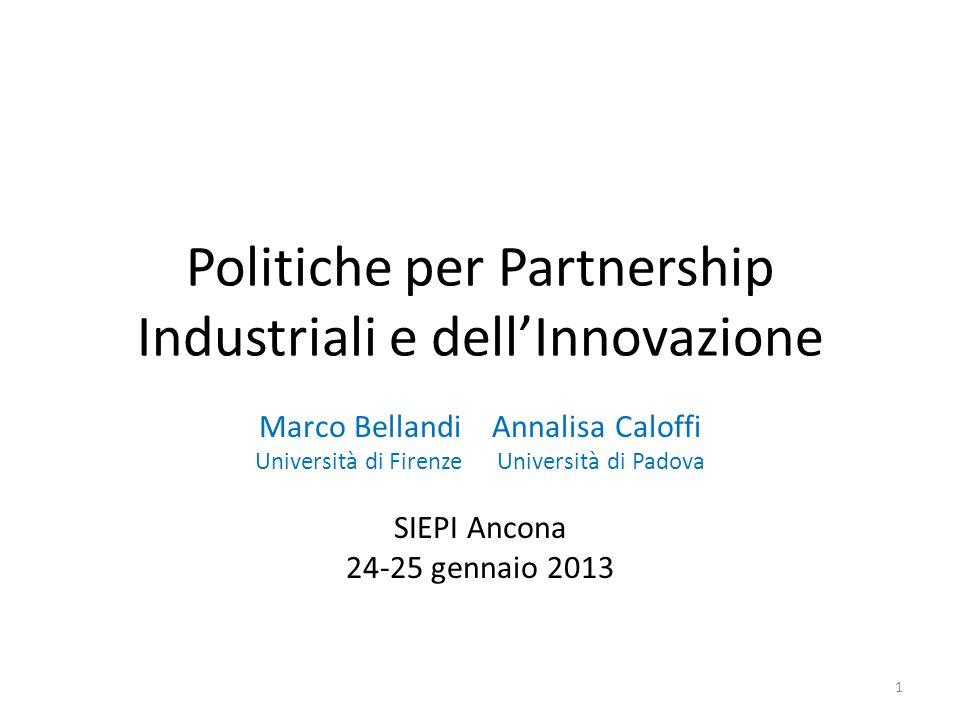 Politiche per Partnership Industriali e dell'Innovazione