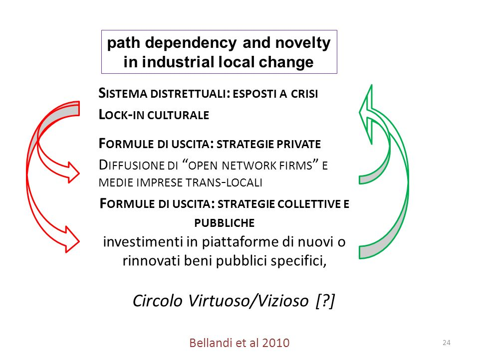 path dependency and novelty in industrial local change