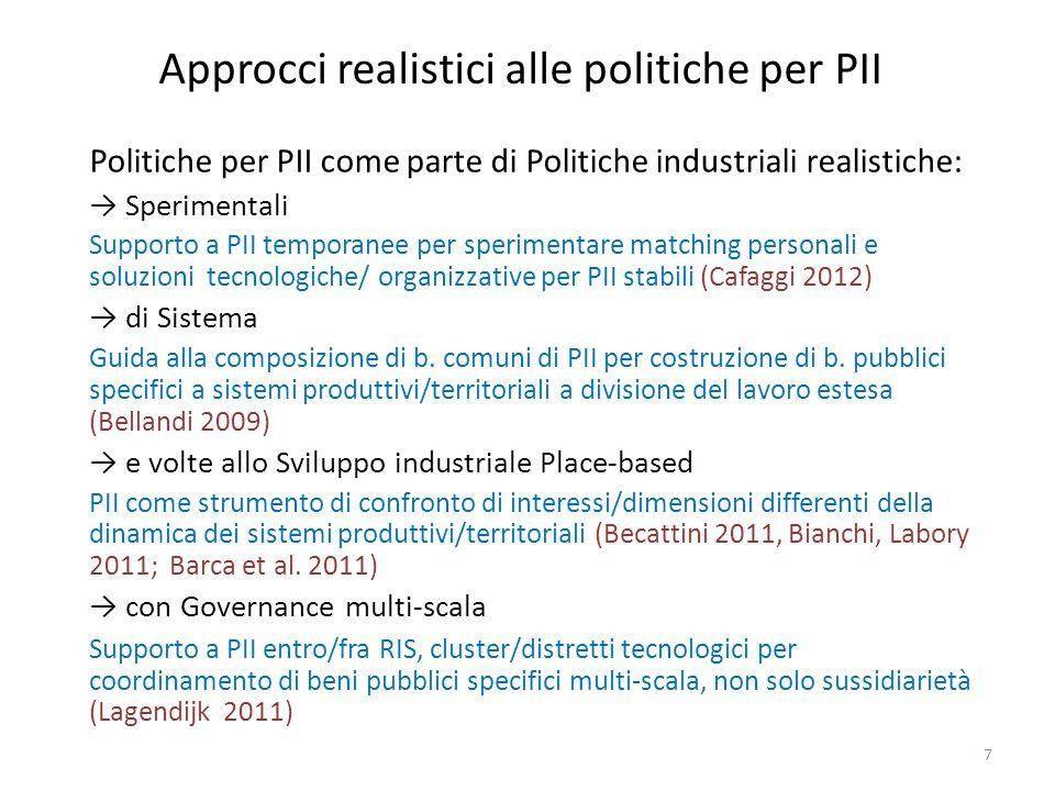 Approcci realistici alle politiche per PII