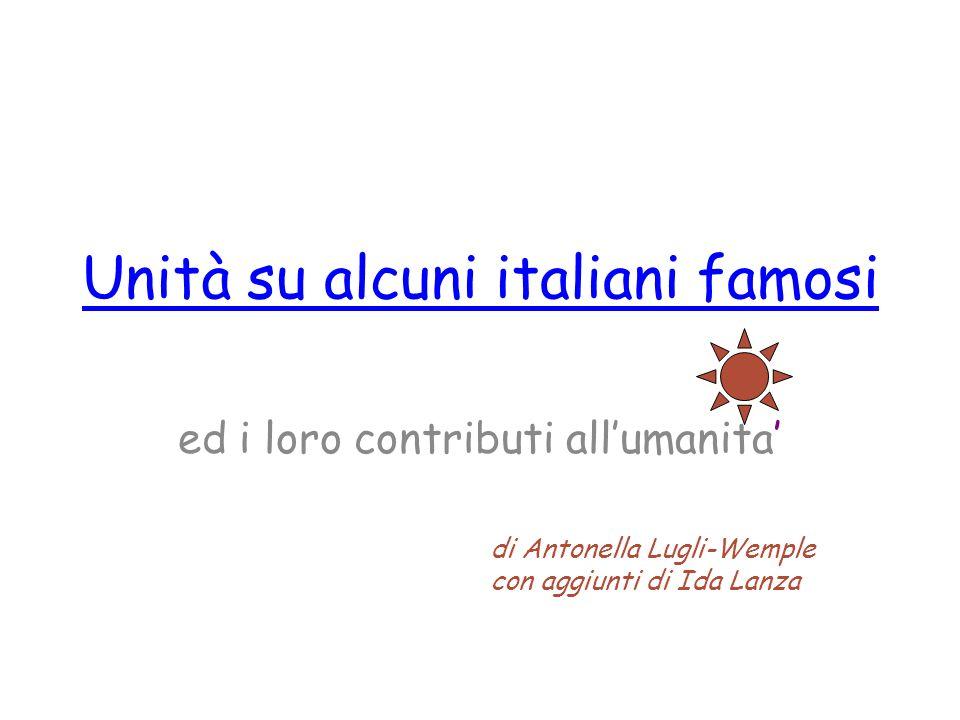 Unità su alcuni italiani famosi